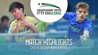 【동영상】TAKERU Kashiwa VS CREPNJAK Matevz 2019 ITTF 도전 슬로베니아 열기