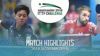 【동영상】파다삭 탄비리야베챠쿨 VS CIPIN Filip 2019 ITTF 도전 슬로베니아 열기