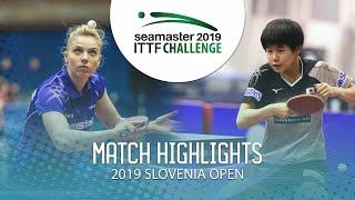 【동영상】DIACONU Adina VS HONAMI Nakamori 2019 ITTF 도전 슬로베니아 열기