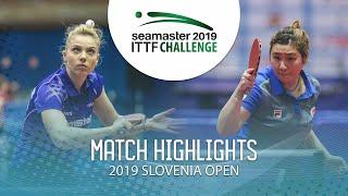 【동영상】DIACONU Adina VS LIU Qi 2019 ITTF 도전 슬로베니아 열기