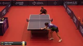 【동영상】VARGAS Francesca VS ZUPANCIC Nina 2019 ITTF 도전 슬로베니아 열기