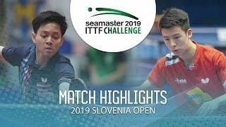 【동영상】파다삭 탄비리야베챠쿨 VS TIAN Ye 2019 ITTF 도전 슬로베니아 열기
