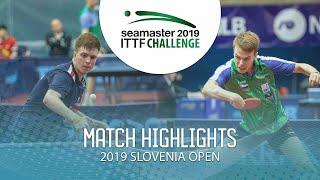 【동영상】SIDORENKO Vladimir VS CVETKO Tilen 2019 ITTF 도전 슬로베니아 열기