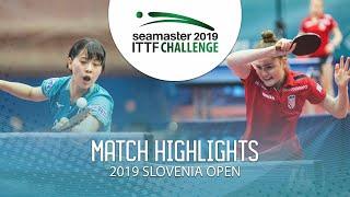 【동영상】NAGASAKI Miyu VS 안드레아 파블로비치 2019 ITTF 도전 슬로베니아 열기 베스트32