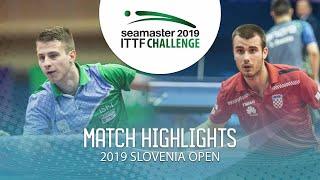 【동영상】KOZUL Deni VS KOLAREK Tomislav 2019 ITTF 도전 슬로베니아 열기 베스트64