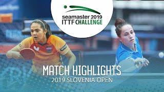 【동영상】DIAZ Adriana VS CIOBANU Irina 2019 ITTF 도전 슬로베니아 열기 베스트32