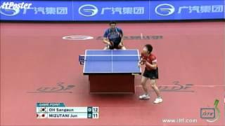 【동영상】 미즈타니 하야부사 VS 오상은 GAC GROUP 2012 재팬 오픈 결승