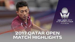 [동영상] 馬龍 VS 李平 2017 씨마 2017 년 플래티넘, 카타르 오픈 16 강