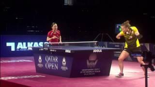 [동영상] 샹 샤오나 VS PARTYKA Natalia 2017 씨마 2017 년 플래티넘, 카타르 오픈 준준결승