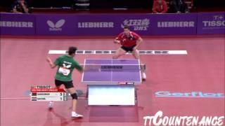 [동영상] 블라디미르 삼소노프 VS 가시나 LIEBHERR 2013 년 세계 탁구 선수권 대회 베스트 32